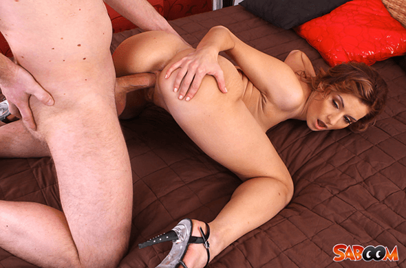 Unzensiertes Fick Bild mit geilem Porno Weib beim Muschi Ficken von hinten